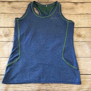 Brooks blue tank